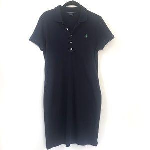 RALPH LAUREN | POLO Knit Dress Collar Navy Preppy